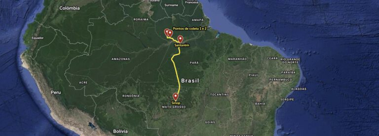 Mapa Rota Castanha do Brasil